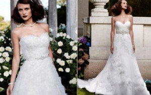 Vestidos de noiva com faixa na cintura