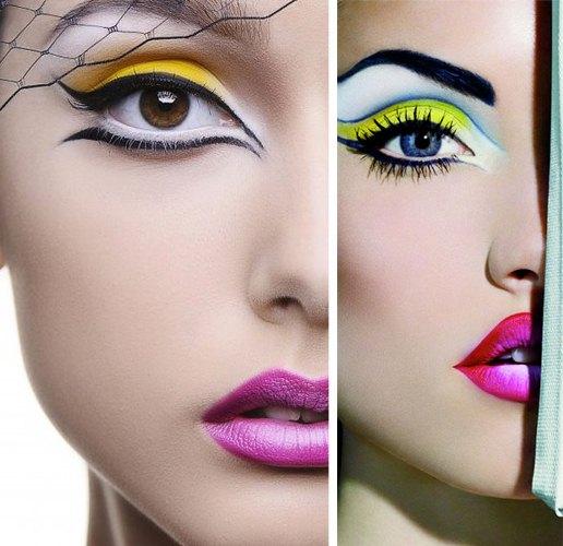 maquiagem para Carnaval colorida