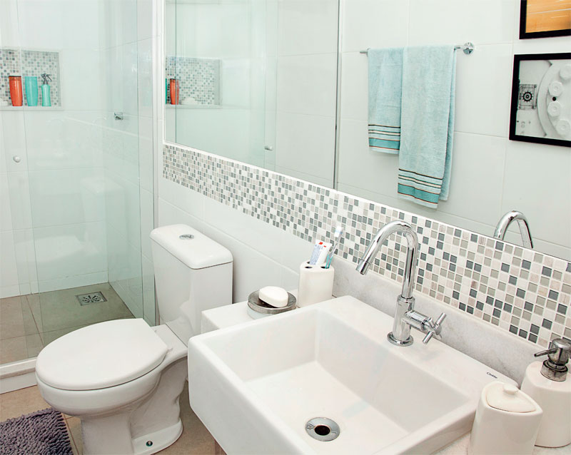 Dicas de decoração para banheiro pequeno  MundodasTribos – Todas as tribos e -> Banheiro Pequeno Com Espelho Grande