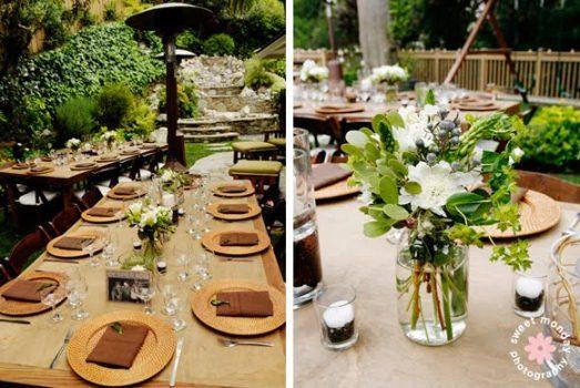 decoracao casamento juta : decoracao casamento juta:Mesas decoradas para o casamento sustentável. (Foto:Divulgação)