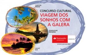 Promoção Viagem dos sonhos com a galera Santander