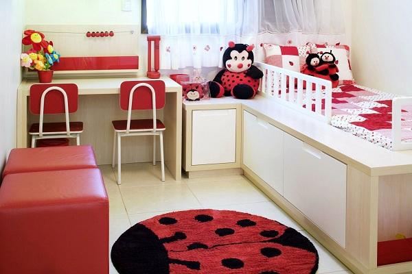 Quarto infantil pequeno ideias para decorar, fotos ~ Quarto Pequeno Infantil Feminino