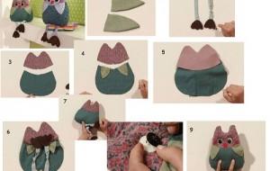 Coruja de tecido: como fazer, passo a passo