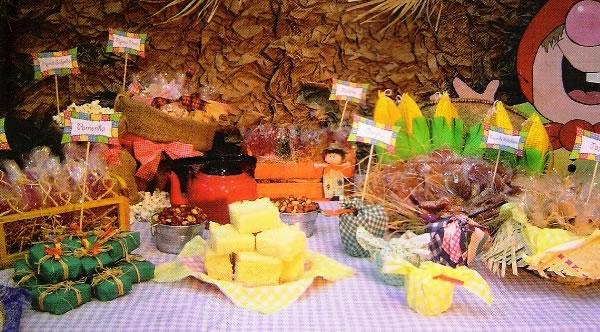 decoracao alternativa para festa junina:Use sua criatividade para montar uma mesa magnífica no dia de São