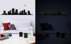 Adesivos de parede que brilham no escuro