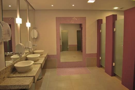 Banheiros comerciais decorados dicas, fotos  MundodasTribos – Todas as trib -> Banheiro Publico Decorado