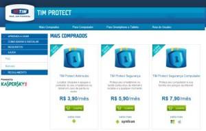 Serviços de segurança para aparelhos TIM