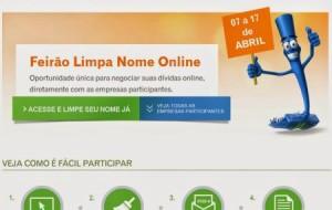 Feirão Limpa Nome Online Serasa Experian 2014