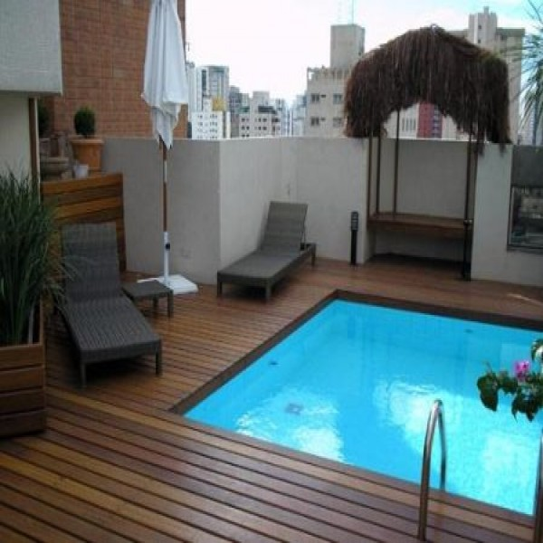 Fotos e ideias para decorar sua piscina Fotos piscinas para espacios pequenos
