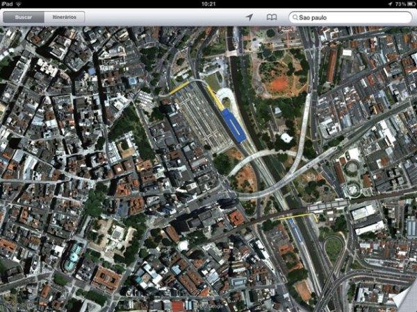 Satélite com imagens online do Google maps ao vivo