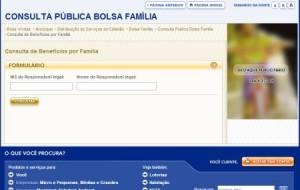 Bolsa família consulta pela internet