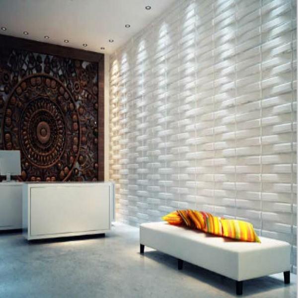 Papel de parede 3d dicas como usar fotos for Sala de estar com papel de parede 3d