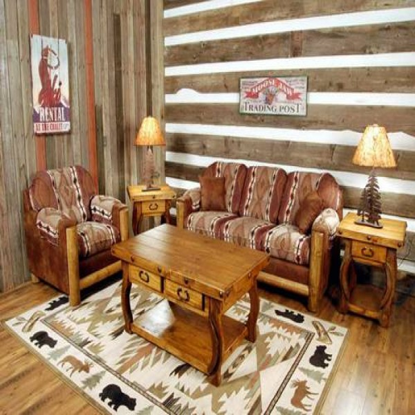 Decora es r sticas para sala de estar mundodastribos for Sala de estar rustica
