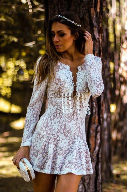 Modelos de vestido de renda 47