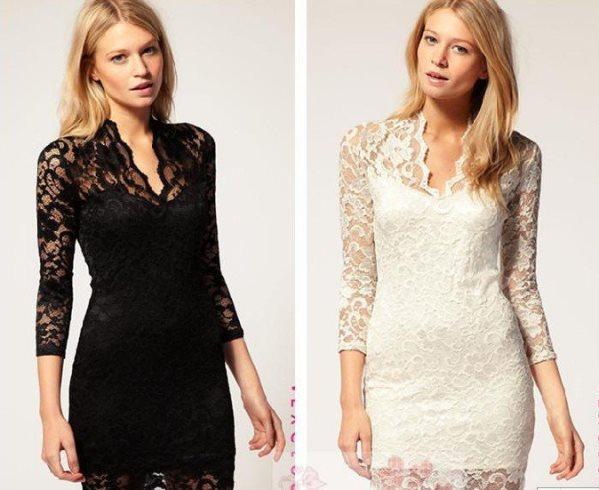 Modelos de vestido de renda 20