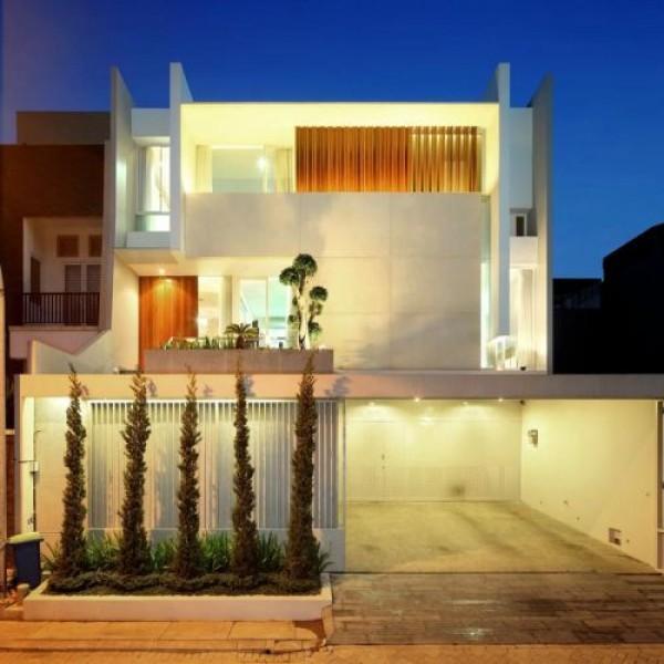 Casas com fachadas e garagem for Modelos de fachadas modernas