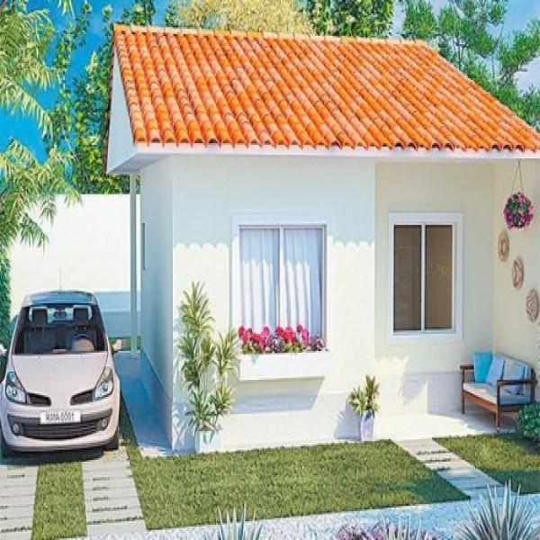Casas com fachadas e garagem Estilos de fachadas para casas pequenas