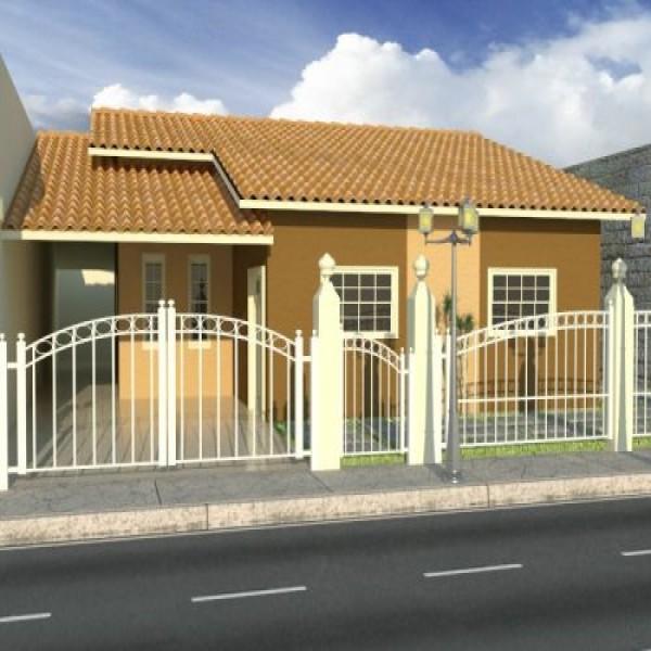 Casas com fachadas e garagem for Jardines para frentes de casas pequenas
