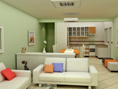 Cores de tintas para paredes externas internas dicas for Simulador de ambientes 3d