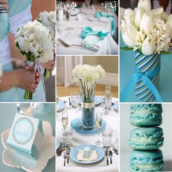 Decora??o de casamento azul e branco - MundodasTribos ...