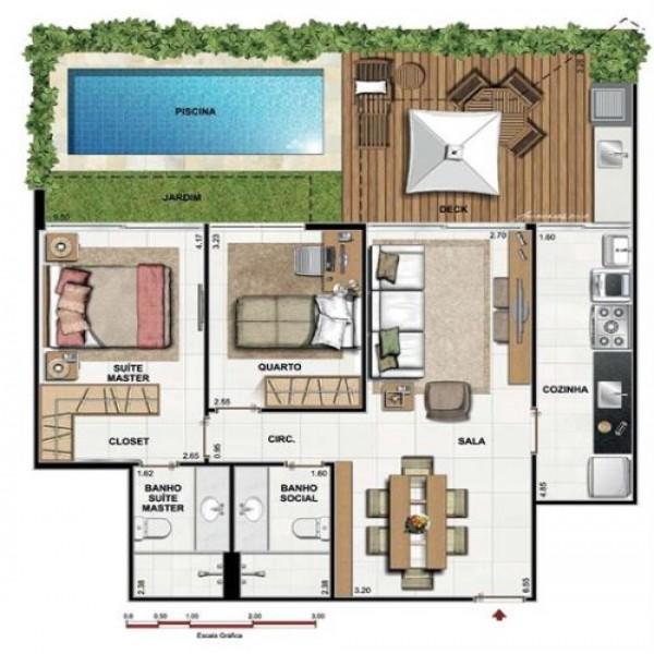 Plantas de casas pequenas com piscinas for Plantas para piscinas