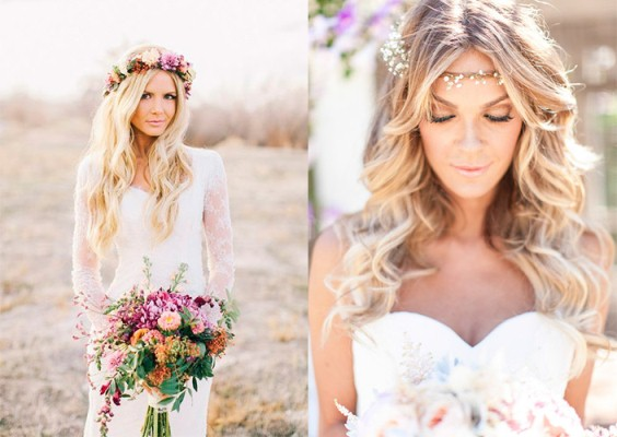 Penteados para noivas com flores 2017