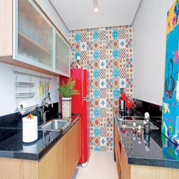 Papel De Parede No Armario De Cozinha : Decora??o papel de parede cozinha mundodastribos todas