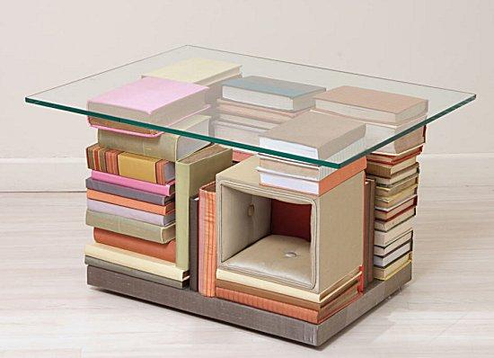 Como usar livros na decora o for Viciados de mesa