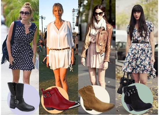Looks com vestidos e botas