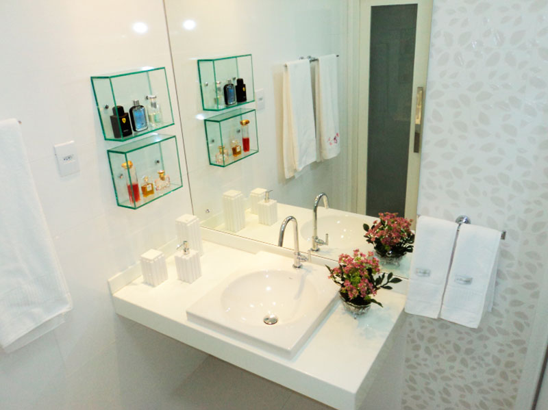 Modelos de decoraçao para banheiros grandes  MundodasTribos – Todas as tribo -> Nicho Banheiro Cerâmica