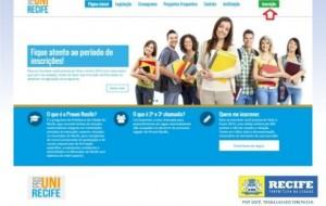 Prouni Recife bolsas integrais em 40 cursos