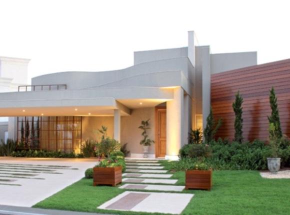 Fachadas para casas modernas e inovadoras for Modelos de fachadas para frentes de casas