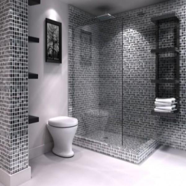 Imagens De Banheiros Decorados Em Preto E Branco : Banheiro decorado preto e branco