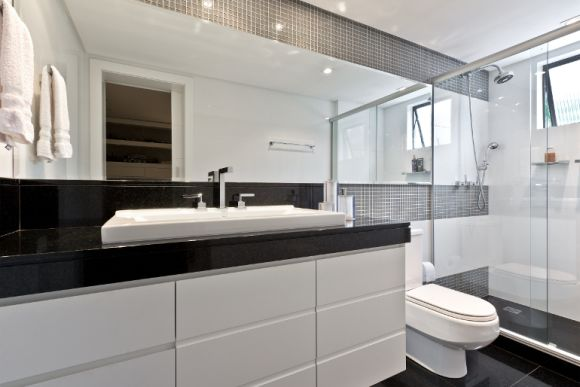 Banheiro decorado preto e branco  MundodasTribos – Todas as tribos em um úni -> Banheiro Decorado Preto
