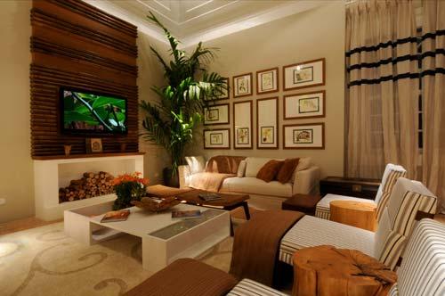 Sala De Estar Deve Ter Tv ~ Sala de TV decorada 20 fotos  MundodasTribos – Todas as tribos em