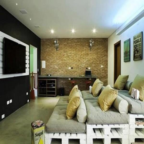 Sala de tv decorada 20 fotos
