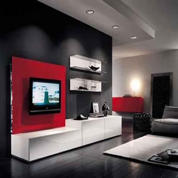 Sala de tv decorada 20 fotos mundodastribos todas as for Salas de television modernas