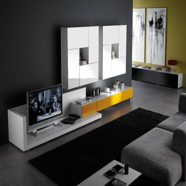 Sala de tv decorada 20 fotos mundodastribos todas as for Sala 600 melide