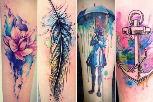 15 tatuagens aquarela para você escolher