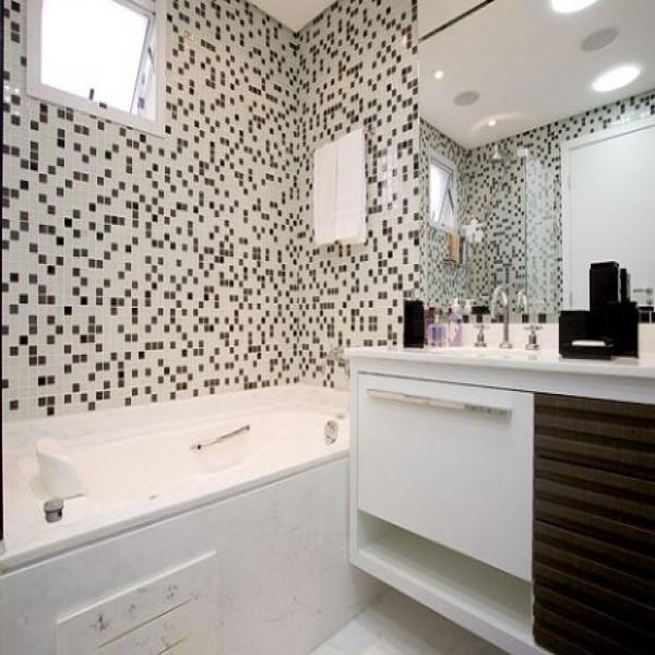 Imagens De Banheiros Decorados Em Preto E Branco : Banheiros com decora??o preto e branco elegantes