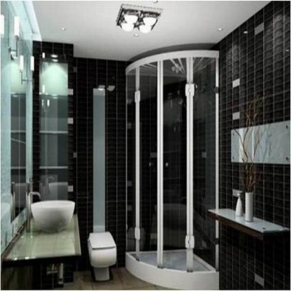 #474474 Banheiros com decoração preto e branco elegantes MundodasTribos – Todas as tribos em um único  600x600 px Banheiro Simples Preto E Branco 2018 3799