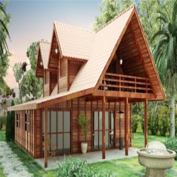 Ideias de decoração para casas de madeira