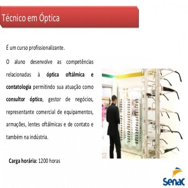 Curso Técnico de Óptica SENAC 1ced54e4ae