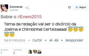Pérolas do Enem 2015