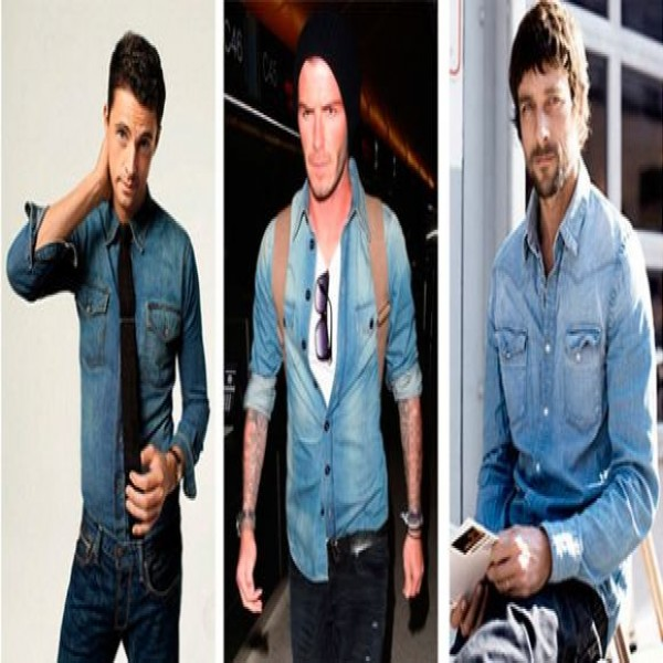 Dicas para homens usar camisas jeans