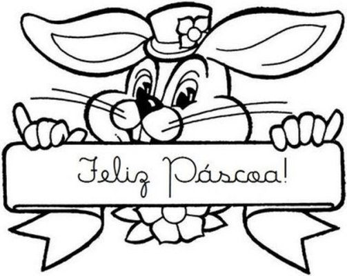 Desenhos e Figuras de Coelhinho da Páscoa para Colorir