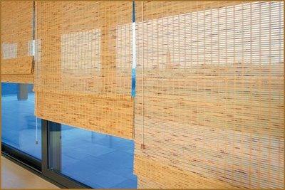 Decora o com cortinas de bambu - Cortina de bambu ...
