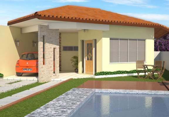 Plantas de casas no fundo do terreno mundodastribos for Modelos de casas con piscina
