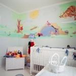 Papel de parede quarto de bebe 150x150 Dicas para decorar quarto infantil pequeno