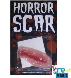 cicatriz falsa para halloween